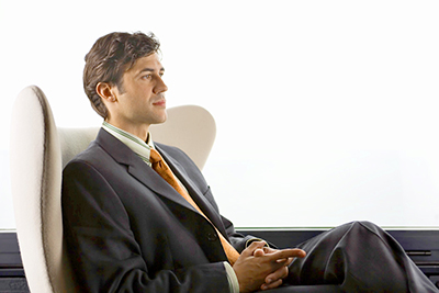 Businessman in Modern Chair