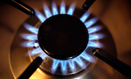 Gas flames on a stove
